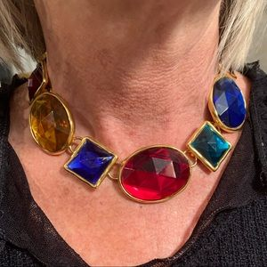Vintage 60's Ben-Amun Jeweled Choker Necklace